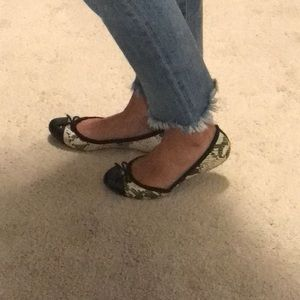 Snakeskin Leather Flats